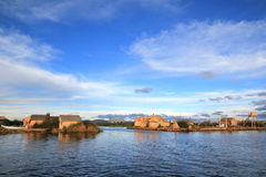Uros  floating islands Stock Photography