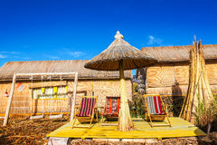 Uros Floating Islands Chairs Stock Photo