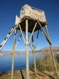 Uros Floating Islands dans Peru& x27 ; s le Lac Titicaca Photographie stock libre de droits