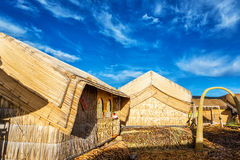 Uros Floating Islands Houses royalty-vrije stock foto's