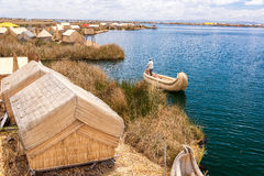 Uros Floating Islands Royalty Free Stock Photography