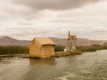 Uros Floating Islands in Peru Royalty Free Stock Photo