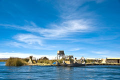 Uros Floating Islands, Peru Royalty Free Stock Photos