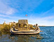 Uros - Floating Islands, Titicaca lake Stock Photo
