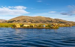 Uros Floating Islands in the Titicaca Lake, Peru royalty free stock image