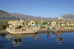 Uros island Stock Images