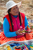 Uros Islands at Lake Titicaca Royalty Free Stock Images