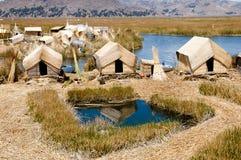 Uros Islands - Meer Titicaca - Peru Stock Foto's
