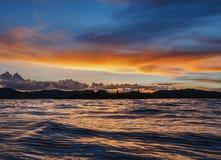 Uros Islands på sjön Titicaca i Peru Arkivfoto