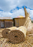 Uros Islands  in  Peru Stock Photography