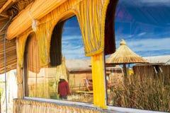 Uros Islands Reflection Royalty Free Stock Photo