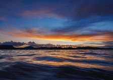 Uros Islands sul Titicaca nel Perù fotografia stock libera da diritti