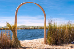 Uros Islands, Titicaca, Peru Stock Photo