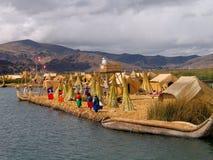 Uros-Isola (Perù) Fotografia Stock Libera da Diritti
