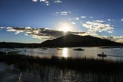 Uros Khantati Islands sjö Titicaca, Altiplano, Peru Royaltyfria Foton