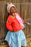 Uros native girl, Peru Royalty Free Stock Photography