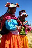 Uros native woman, Peru Royalty Free Stock Photos