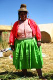 Uros native woman, Peru Royalty Free Stock Image