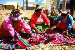 Uros native woman, Peru Stock Photography