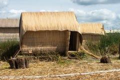 Uros People, Floating Island, Peru Stock Image
