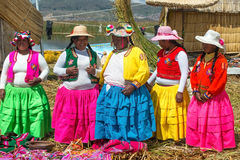 Uros People, Floating Island, Peru Royalty Free Stock Photography