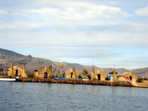 Uros People at lake Titicaka Stock Images
