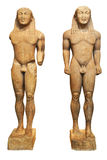 κuros statues - delphi greece Stock Images
