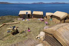 Uros Titino Floating Islands Immagine Stock
