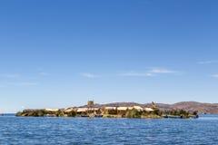 Uros Titino Floating Islands op Titicaca-Meer royalty-vrije stock afbeelding