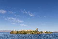 Uros Titino Floating Islands Stock Images