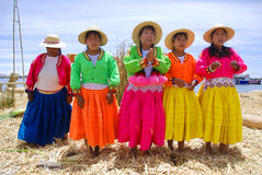 Uros woman Royalty Free Stock Images