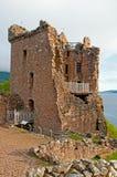 Urqhart城堡的格兰特・霍尔。 免版税库存照片