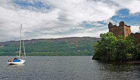 Urqhart castle. Views from urqhart castle on the shores of loch ness Royalty Free Stock Photography