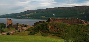 Urqhart castle. Views from urqhart castle on the shores of loch ness Royalty Free Stock Image