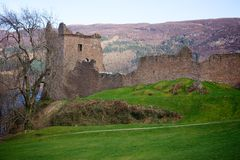 Urqhart Castle Ruins Stock Photography