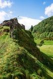 Urquhart城堡废墟在奈斯湖的在苏格兰 库存图片