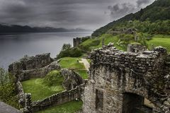 Urquhart城堡废墟-苏格兰 免版税库存照片