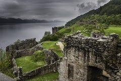 Urquhart城堡废墟 免版税图库摄影