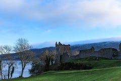 Urquhart城堡破坏风景 库存图片