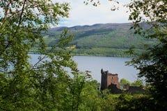 Urquhart城堡,奈斯湖,苏格兰 免版税库存图片