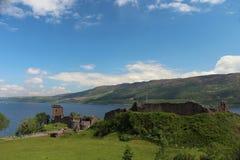 Urquhart城堡,奈斯湖,苏格兰 免版税图库摄影