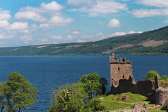 Urquhart城堡,奈斯湖,苏格兰 图库摄影
