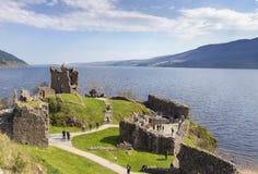 Urquhart城堡,苏格兰 免版税库存图片