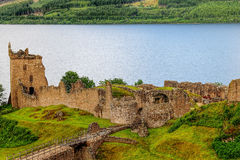 Urquhart城堡 免版税库存照片
