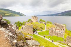 Urquhart城堡lockness苏格兰英国在夏天 免版税库存照片
