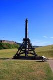 Urquhart城堡Trebuchet 免版税图库摄影
