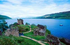 urquhart замока стоковые фотографии rf