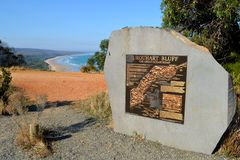 Urquhart Bluff Great Ocean Road. Urquhart Bluff on the Great Ocean Road in Victoria Australia stock photos