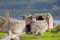 Urquhart Castle. Ruins of Urquhart Castle at Loch Ness Inverness Highlands Scotland UK Royalty Free Stock Images