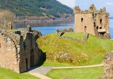 Urquhart Castle. On Loch Ness shore in Scotland Stock Photos